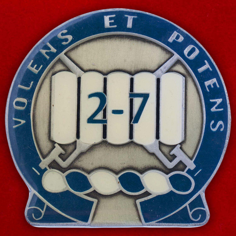 Челлендж коин 2-го батальона 7-го Пехотного полка Армии США