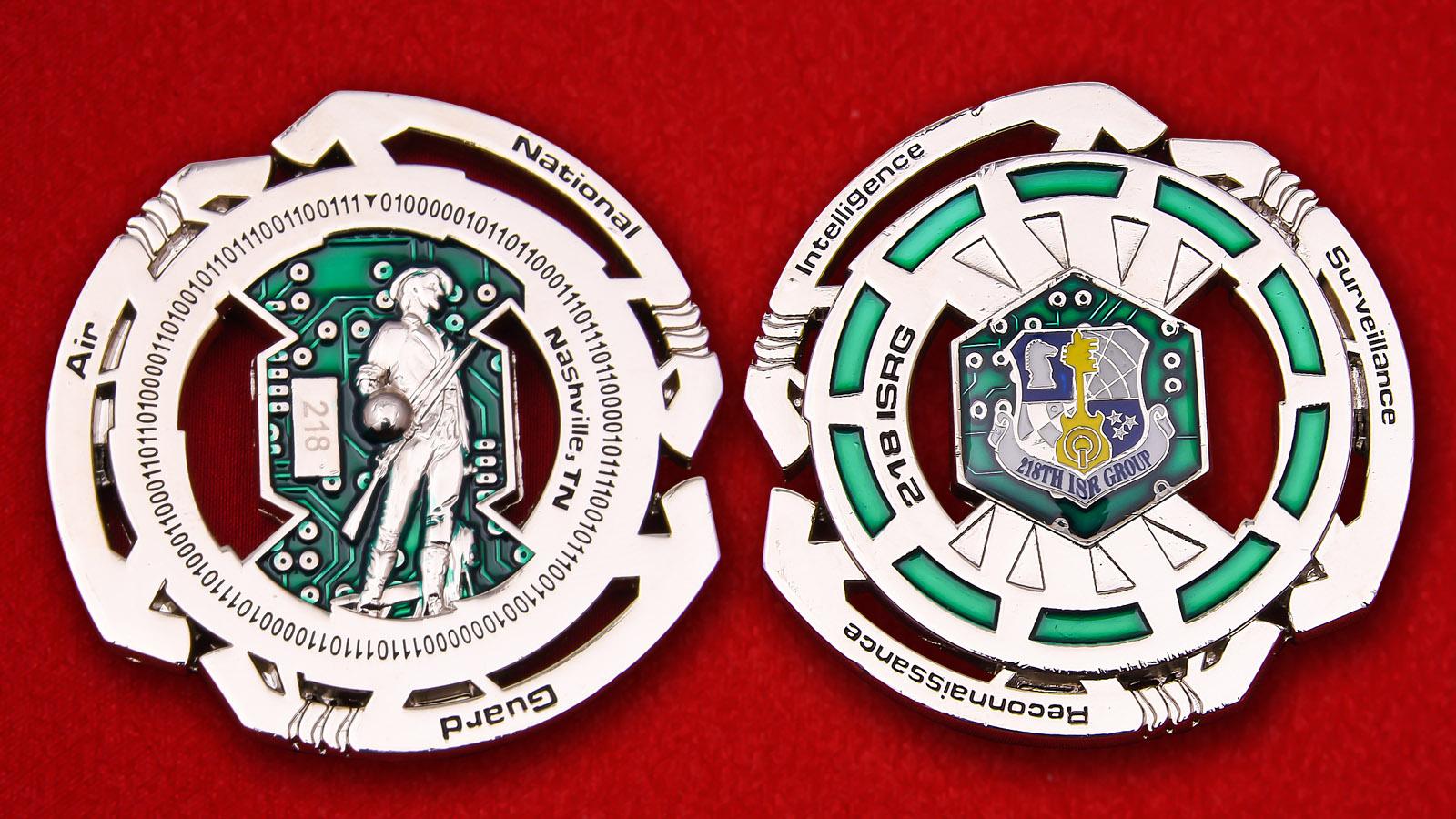 Челлендж коин 218-й Группы цифровой разведки и расследований Бюро Национальной Гвардии США