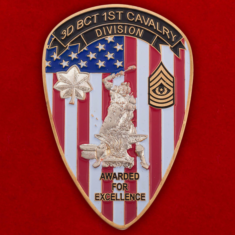 Челлендж коин 3-го батальона 215-й бригадной тактической группы 1-й Кавалерийской дивизии Армии США