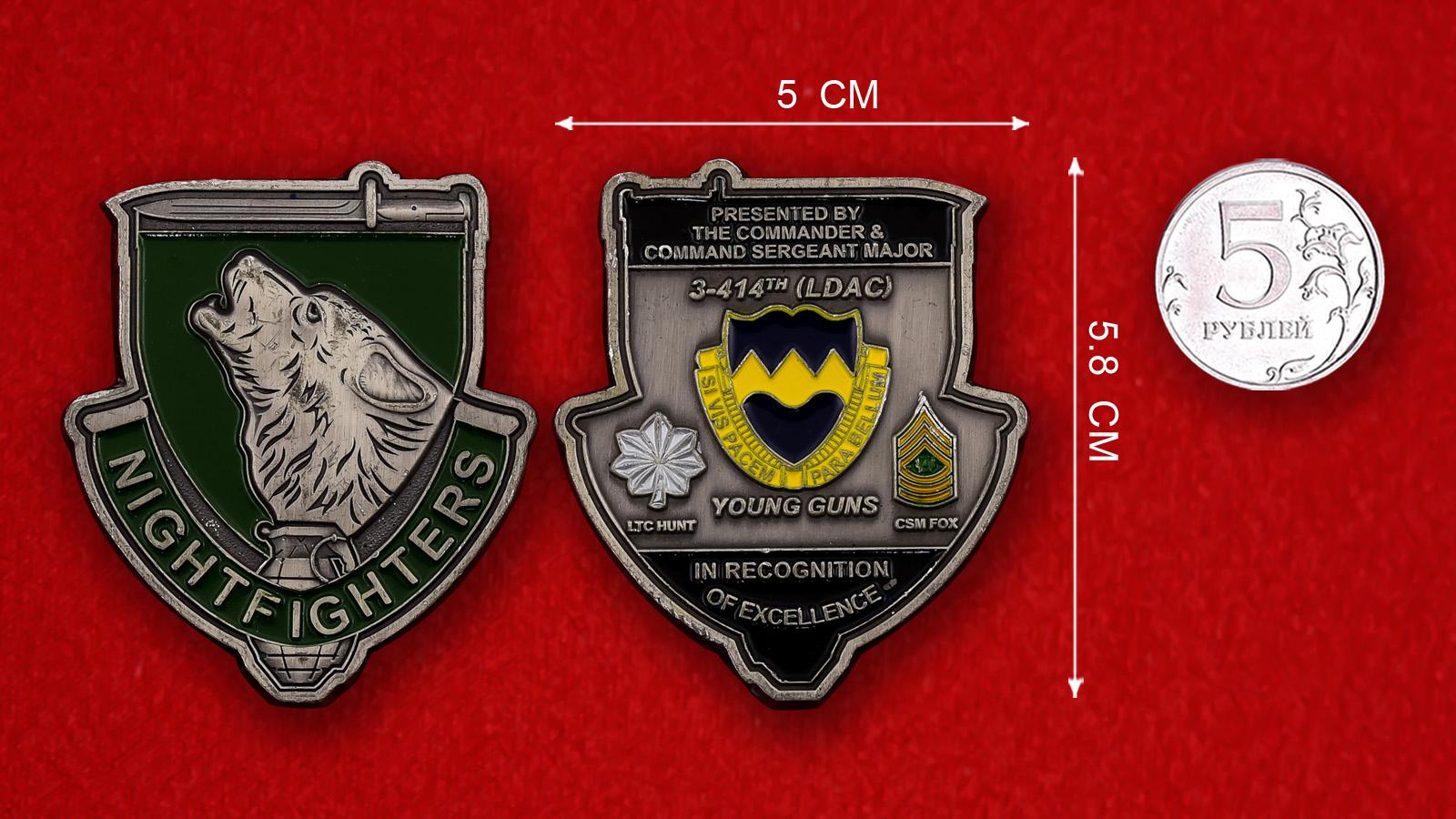 Челлендж коин 3-го батальона 414-го Пехотного полка армии США