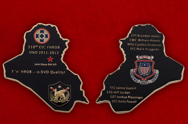Челлендж коин 310-го Экспедиционного подразделения материально-технического обеспечения Армии США - аверс и реверс