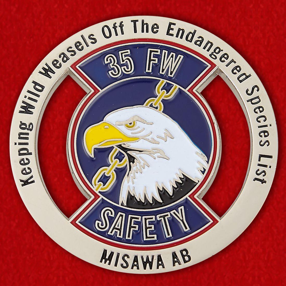Челлендж коин 35-го Истребительного авиакрыла, база Мисава