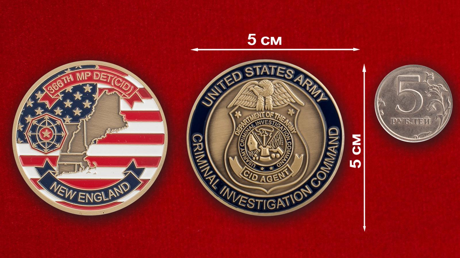 Челлендж коин 366-й оперативно-розыскной группы военной полиции ВС США
