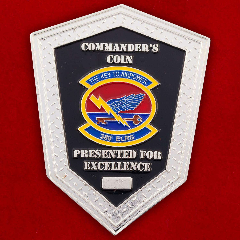 Челлендж коин 380-й эскадрильи тылового снабжения ВВС США