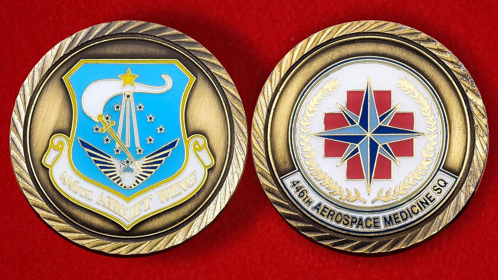 """Челлендж коин """"446 крыло резерва ВВС США"""""""