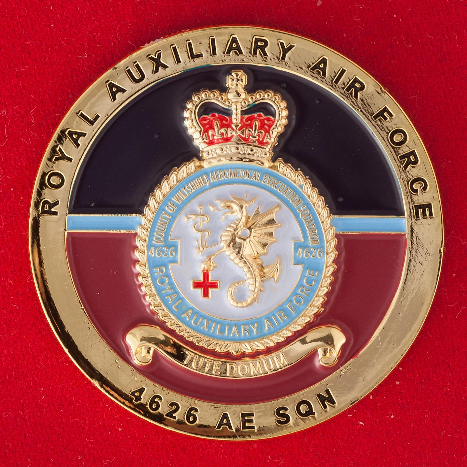 Челлендж коин 4626-й вспомогательной эскадрильи Королевских ВВС Великобритании