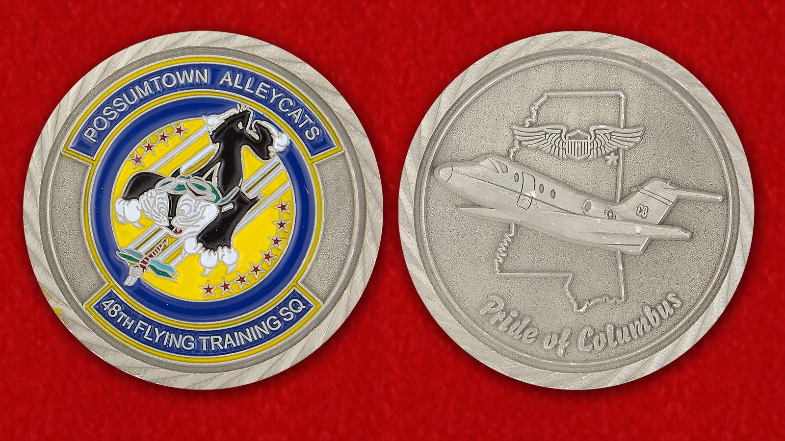 Челлендж коин 48-й Учебной эскадрильи - аверс и реверс
