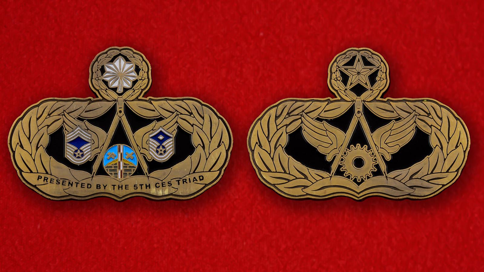 Челлендж коин 5-й Инженерно-технической эскадрильи авиабазы Майнот
