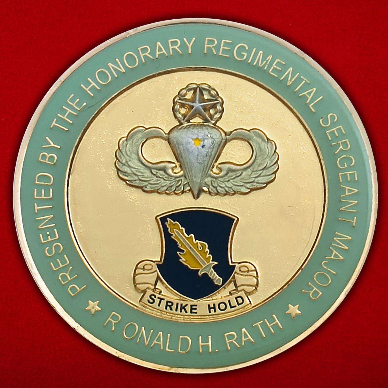 Челлендж коин 504-го Парашютно-десантного полка