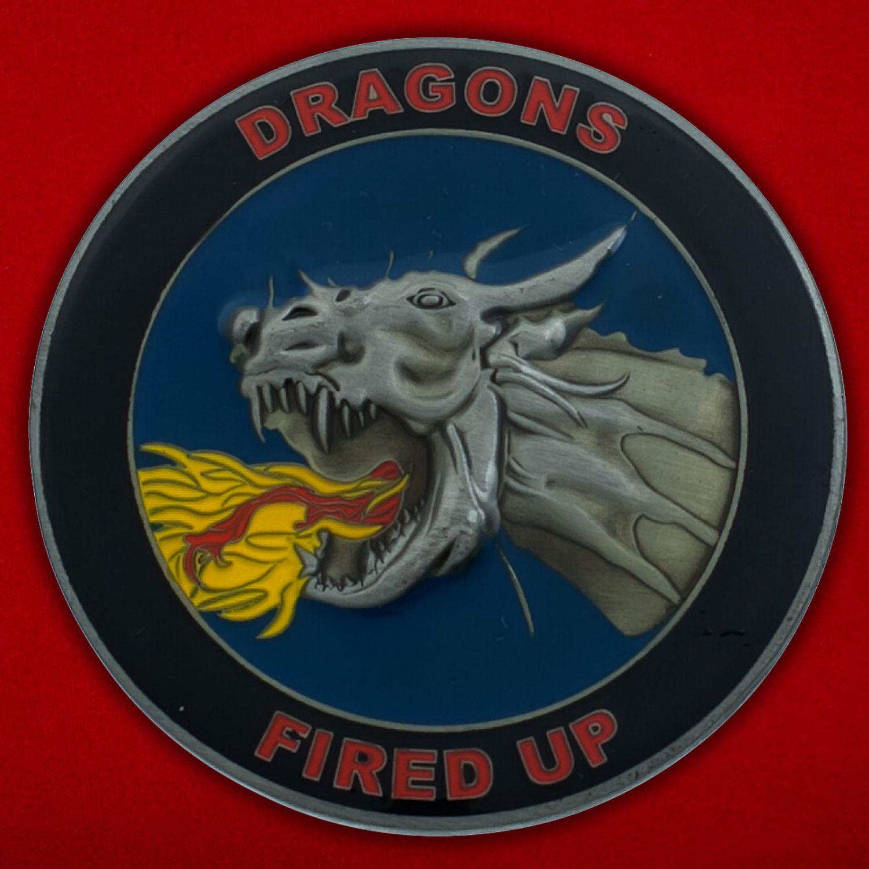 Челлендж коин 52-й оперативной эскадрильи материально-технического обеспечения