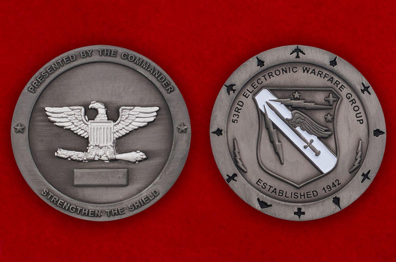 Челлендж коин 53-й авиагруппы радиоэлектронной борьбы - аверс и реверс