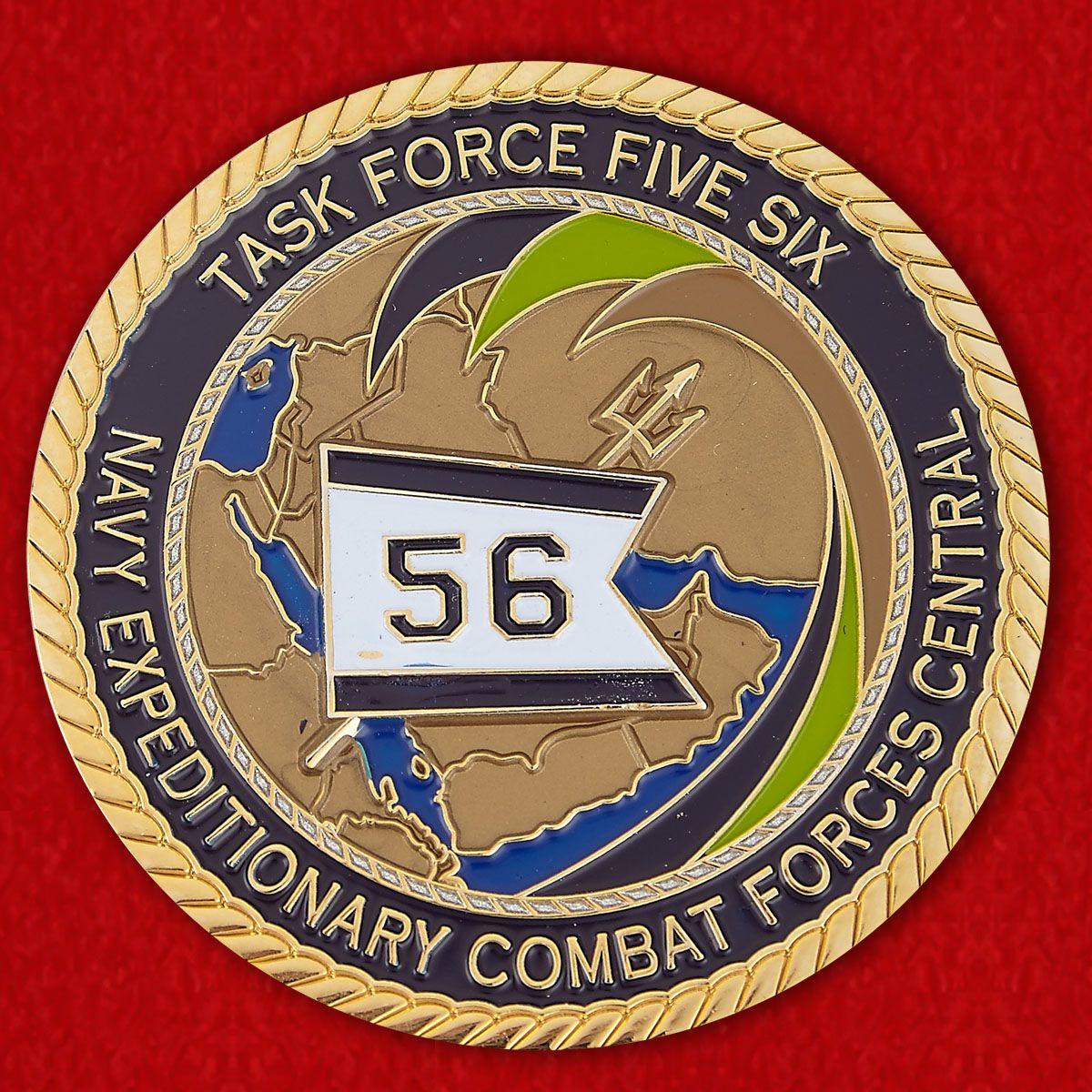 Челлендж коин 56-й Оперативной группы Экспедиционных сил ВМС США
