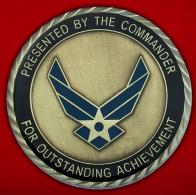 Челлендж коин 633-ей эскадрильи материально-технического обслуживания ВВС США