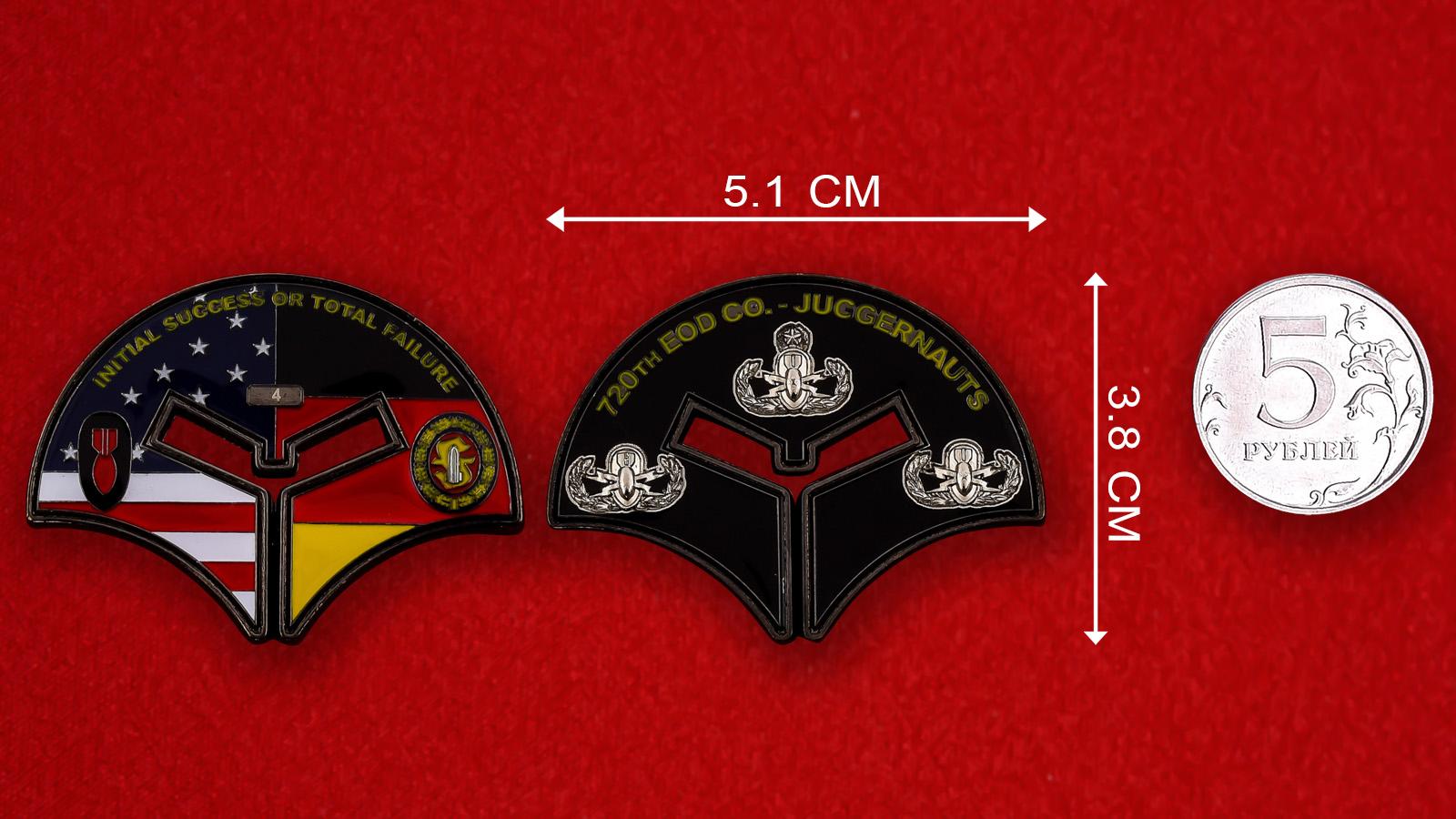 "Челлендж коин 720-й Инженерно-саперной роты ""Juggernauts"""