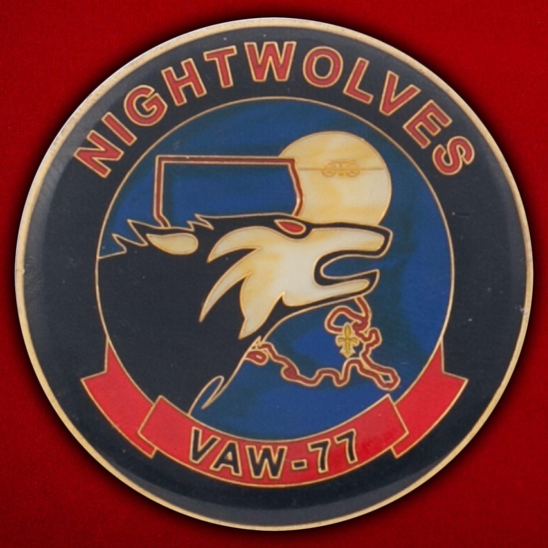 Челлендж коин 77-й эскадрильи радиолокационной разведки ВМС США