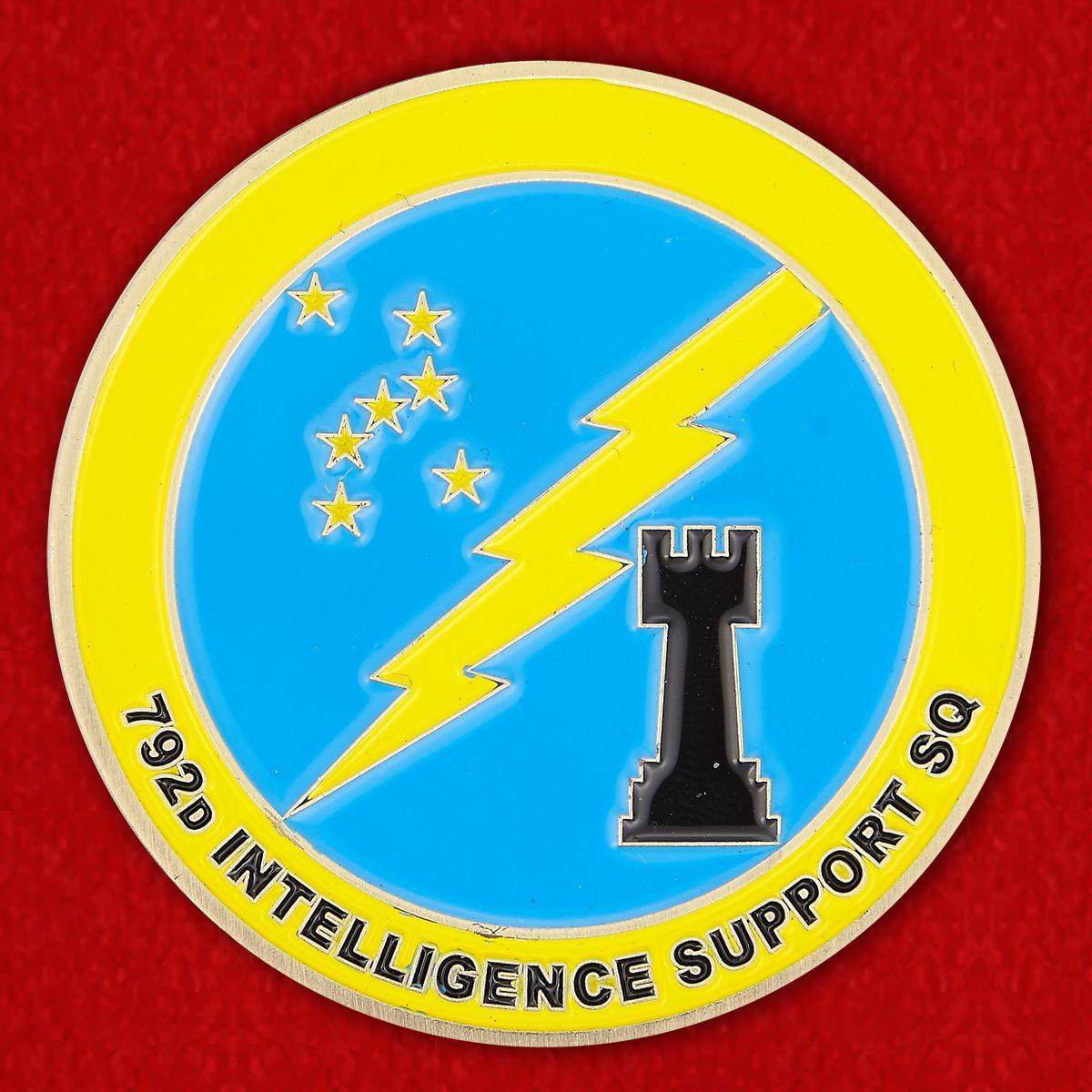 """Челлендж коин """"792-й эскадрилье снабжения от командира за отличную службу"""""""