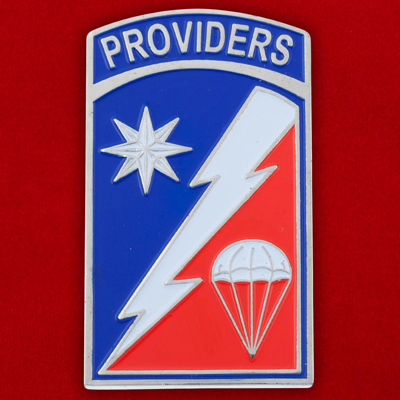 Челлендж коин 82-й бригады материально-технического обеспечения ВДВ США