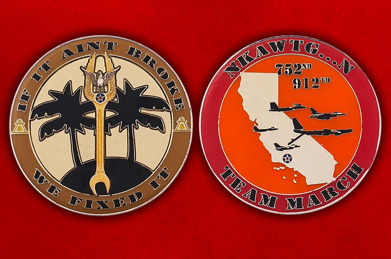 Челлендж коин 912-й эскадрильи дозаправки ВВС США - аверс и реверс
