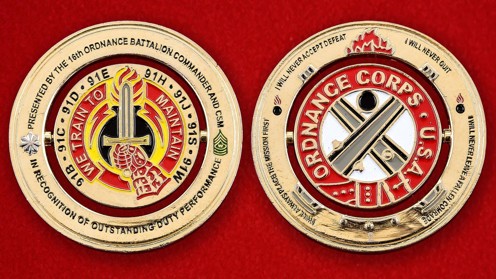"Челлендж коин ""От командования 16-го артиллерийско-технического батальона"""