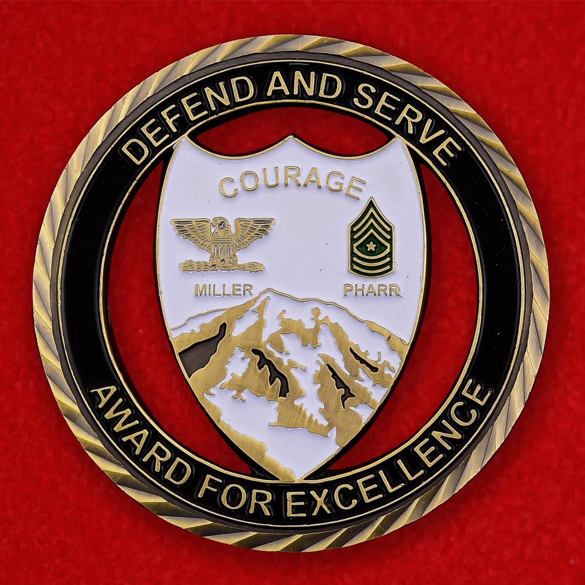 """Челлендж коин армии США """"I корпус G1, совместная база Льюис-МакКорд"""""""
