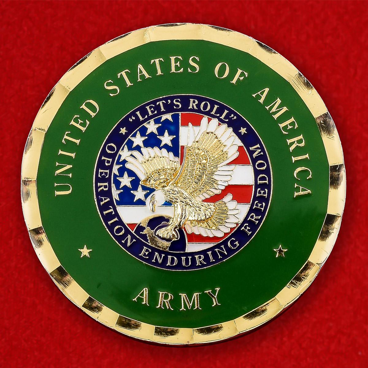 """Челлендж коин армии США """"Операция Несокрушимая свобода Let"""