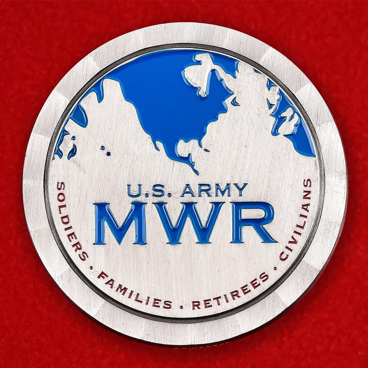 """Челлендж коин армии США """"Служба поддержки семьи, быта и отдыха на базе Форт-Беннинг"""""""