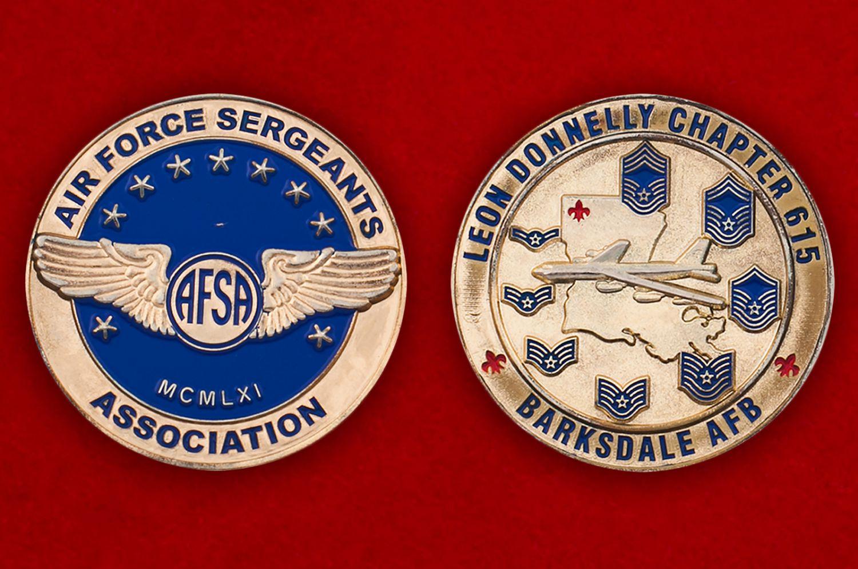 Челлендж коин Ассоциации сержантов ВВС США - аверс и реверс