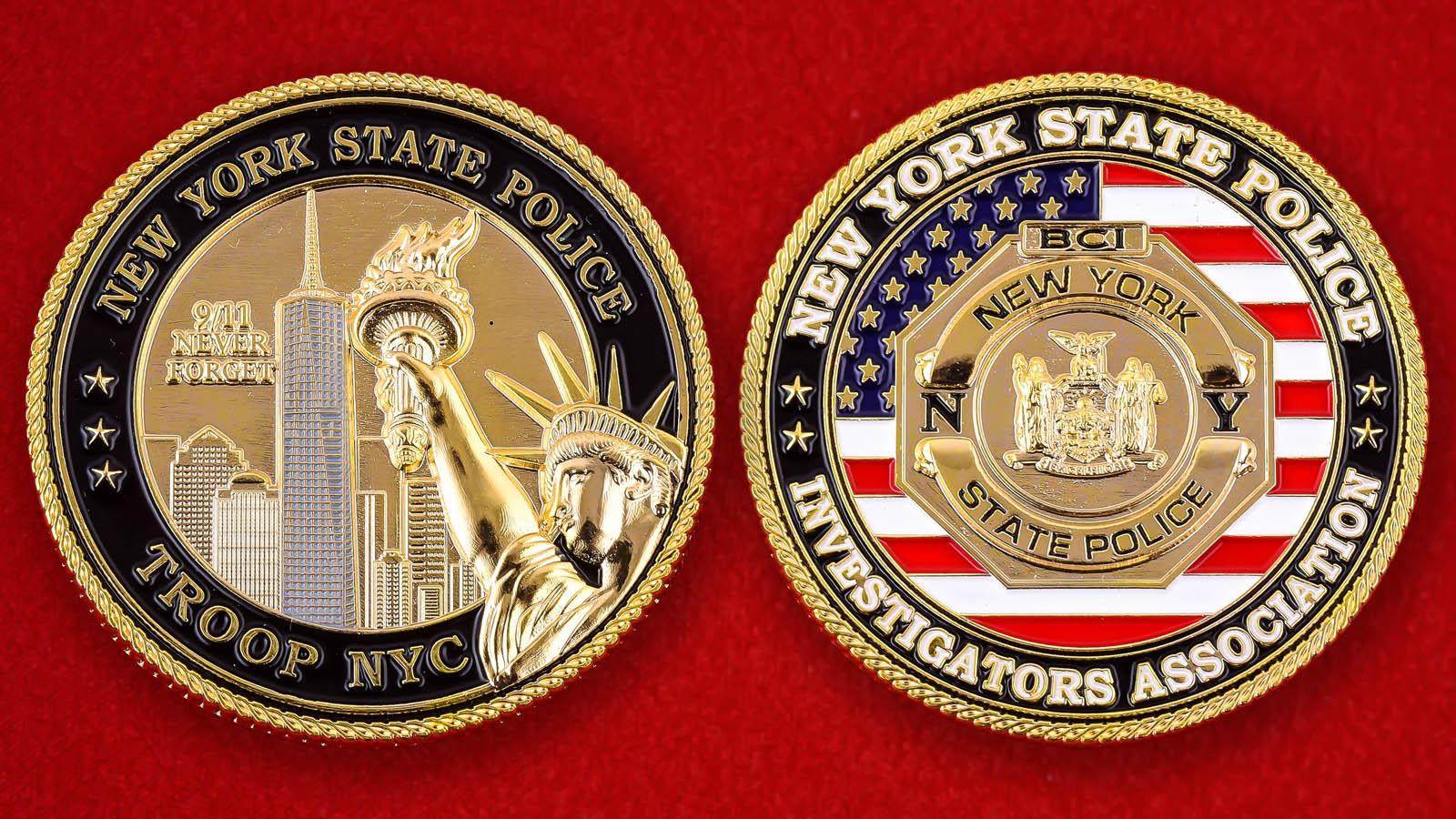 """Челлендж коин """"Ассоциация следователей полиции штата Нью-Йорк"""""""