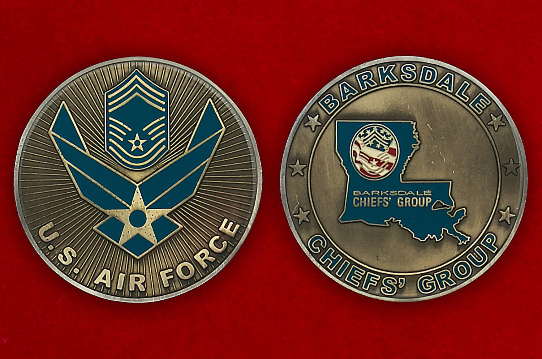 Челлендж коин авиабазы Барксдейл ВВС США - аверс и реверс