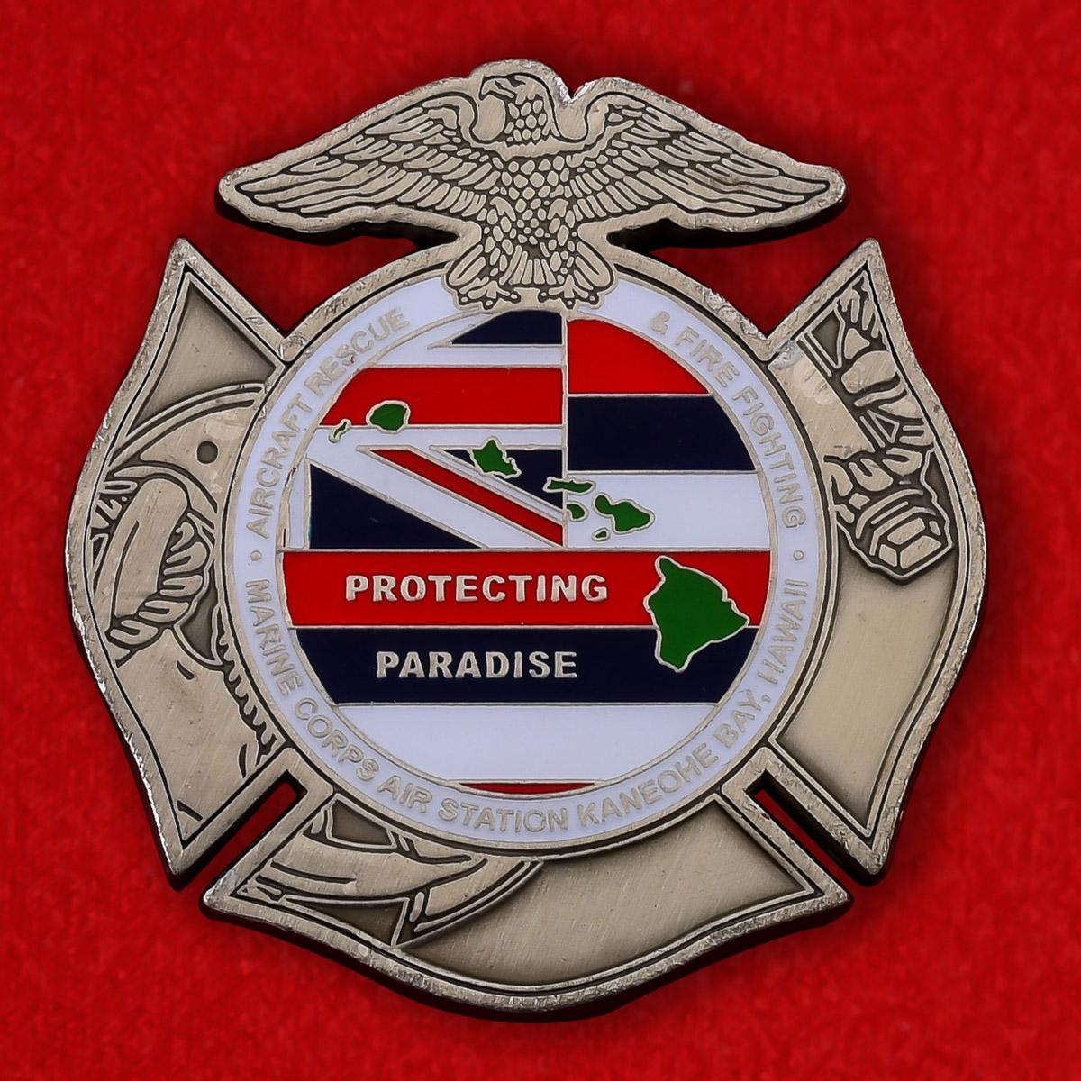 """Челлендж коин """"База Корпуса Морской пехоты США в заливе Кано Бэй, Гавайи"""""""