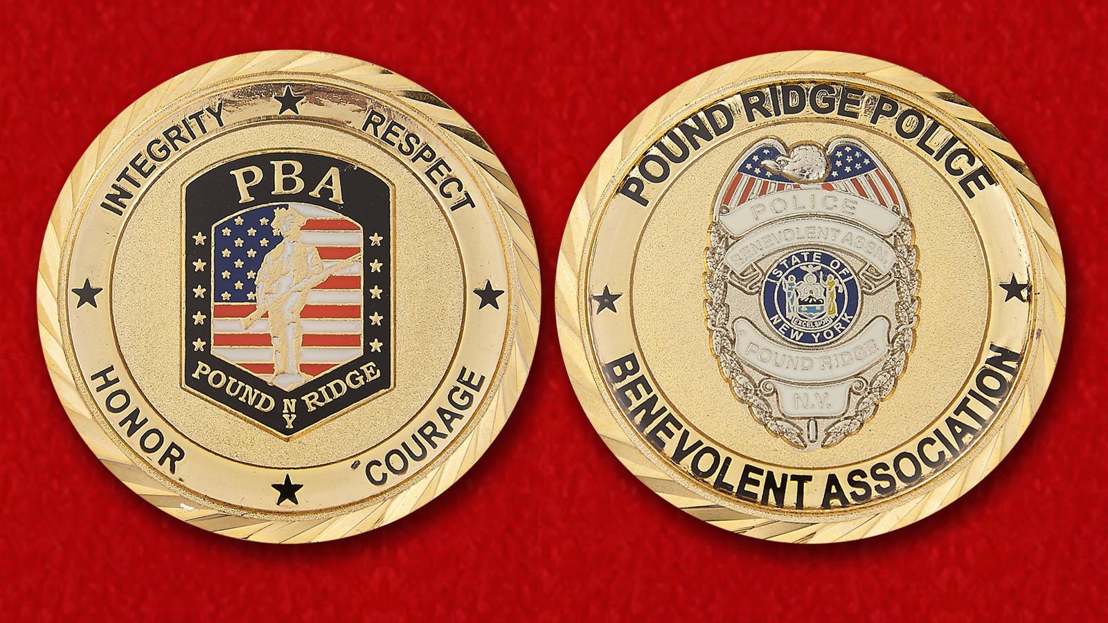 Челлендж коин Благотворительной организации полиции Паунд Ридж - аверс и реверс