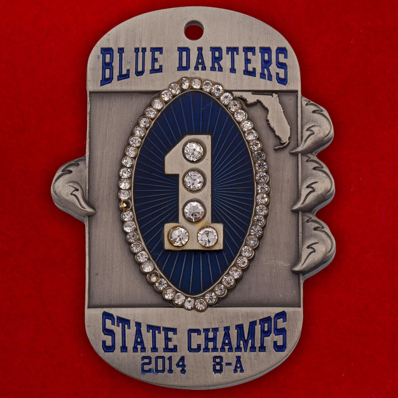 "Челлендж коин ""Чемпионы Флориды-2014"" команды американского футбола Apopka Blue Darters"