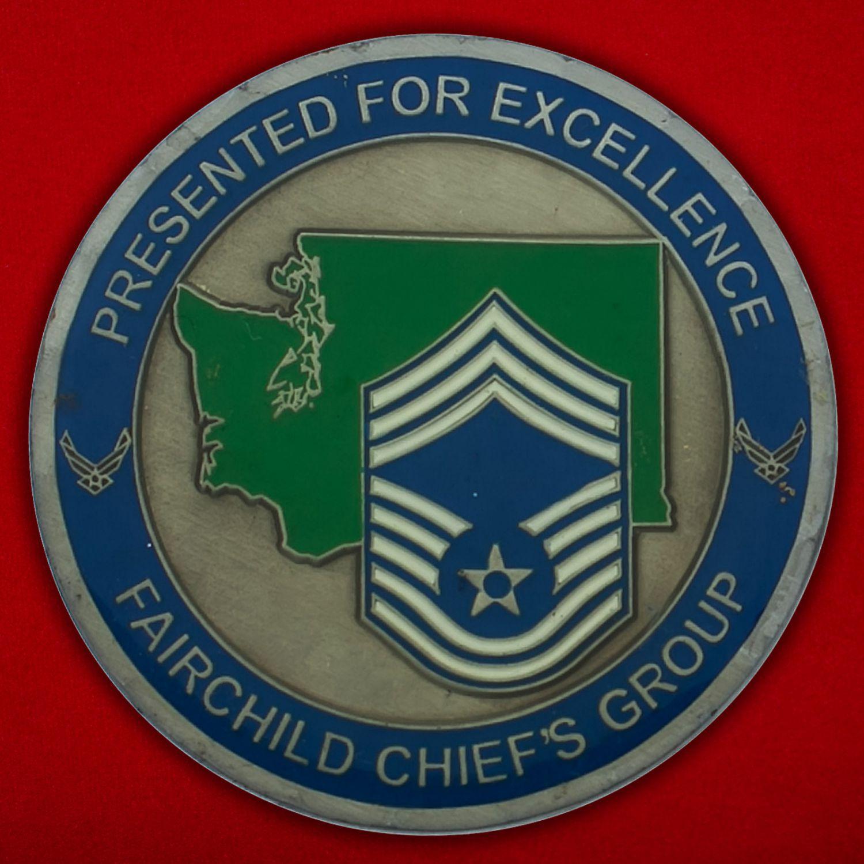Челлендж коин командования авиабазы Фэйрчайлд ВВС США