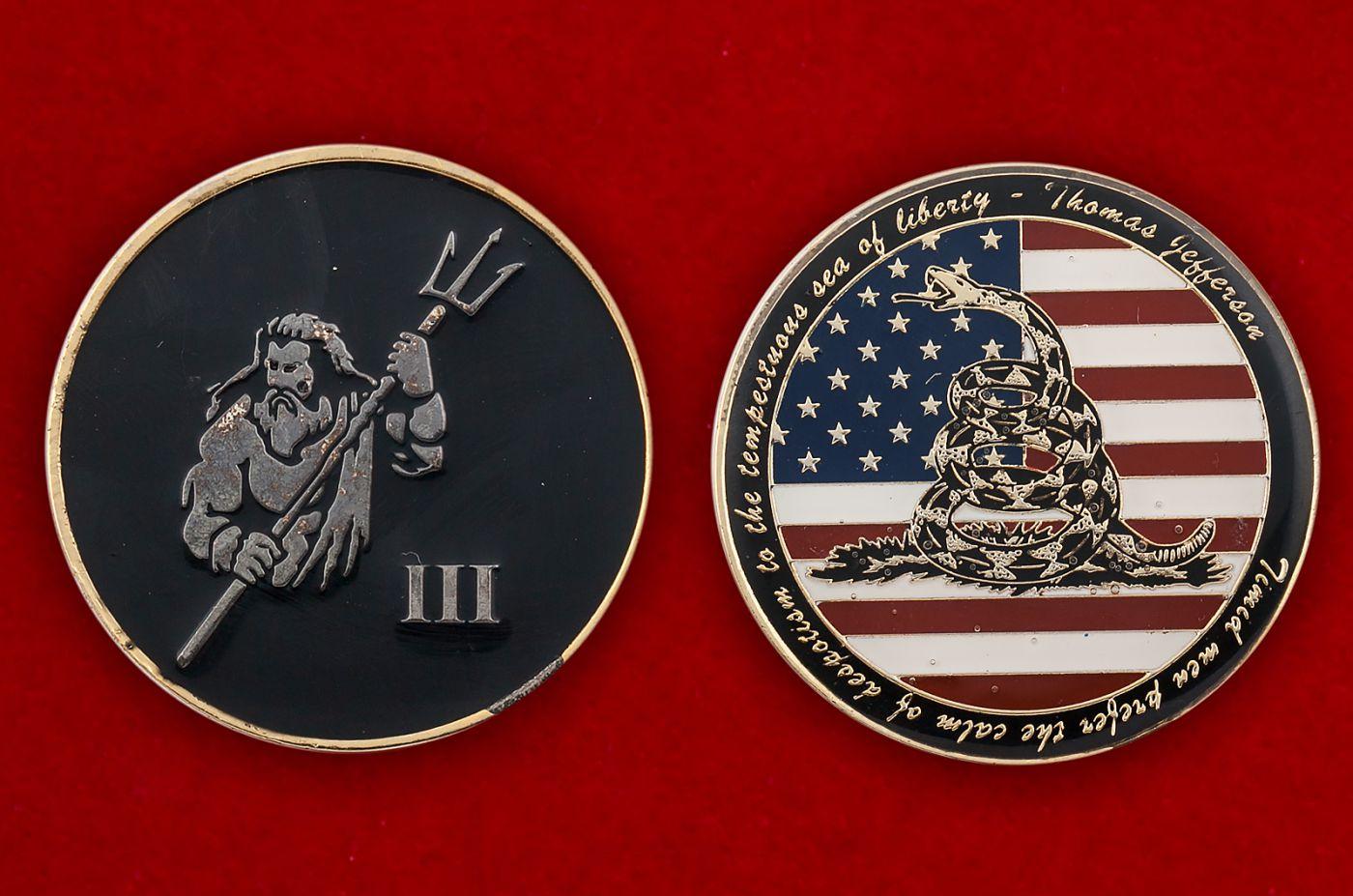 """Челлендж коин """"Декларация за независимость США Томаса Джефферсона"""" - аверс и реверс"""
