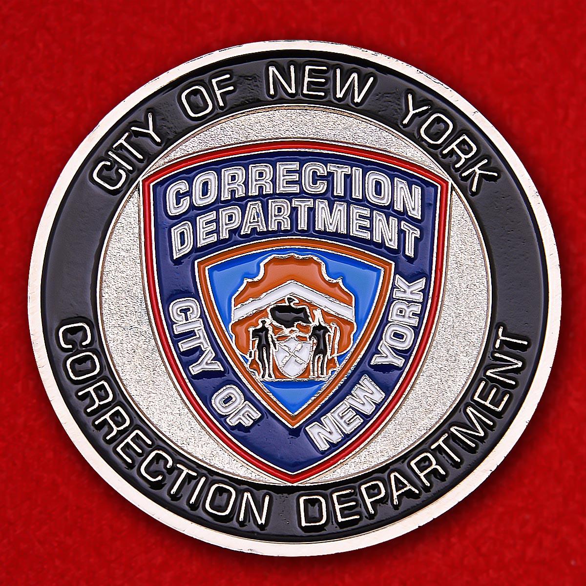 Челлендж коин Департамента исполнения наказаний города Нью-Йорка
