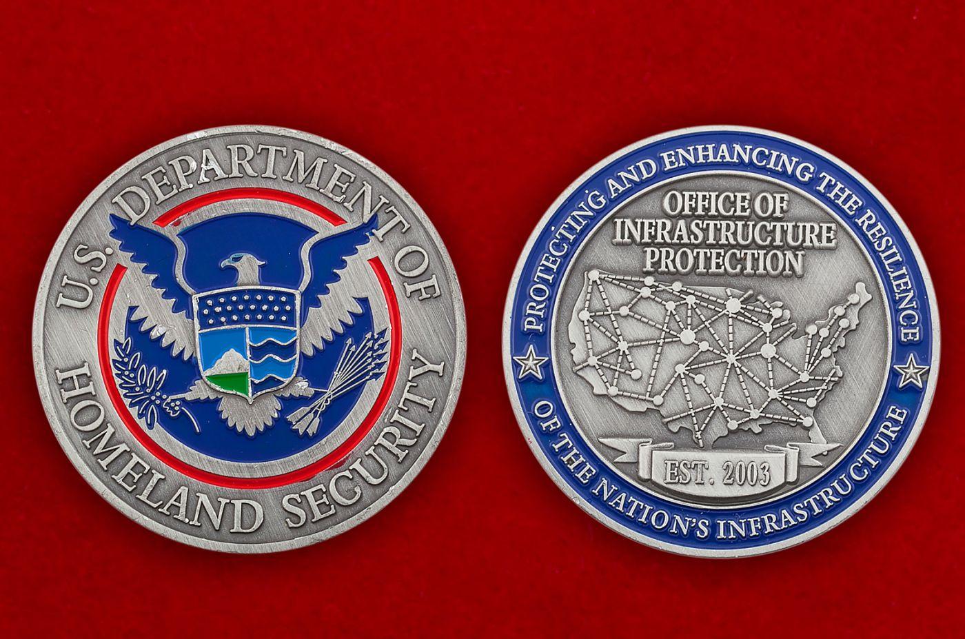 Челлендж коин Министерства Внутренней безопасности США - аверс и реверс