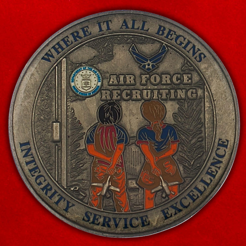Челлендж коин Департамента подбора персонала ВВС США