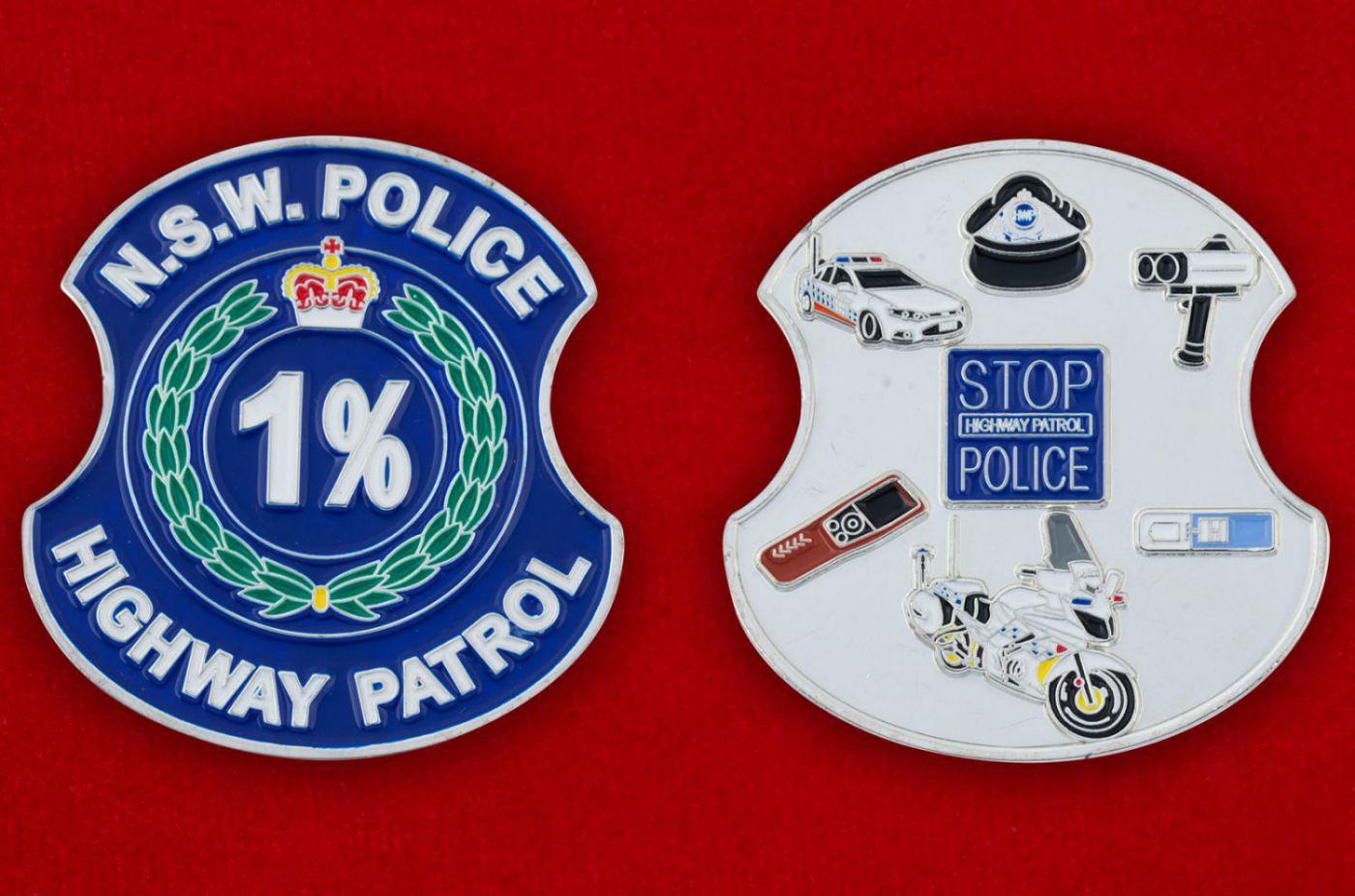 Челлендж коин Дорожного патруля полиции штата Новый Южный Уэльс (Австралия) - аверс и реверс
