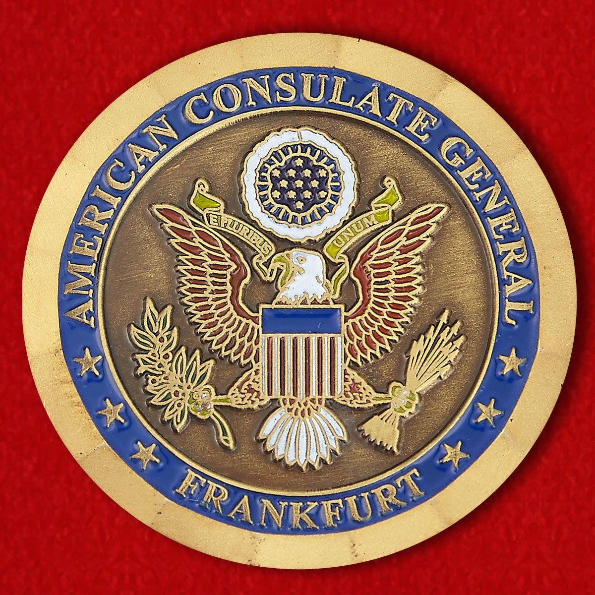 Челлендж коин Генерального консульства США во Франкфурте