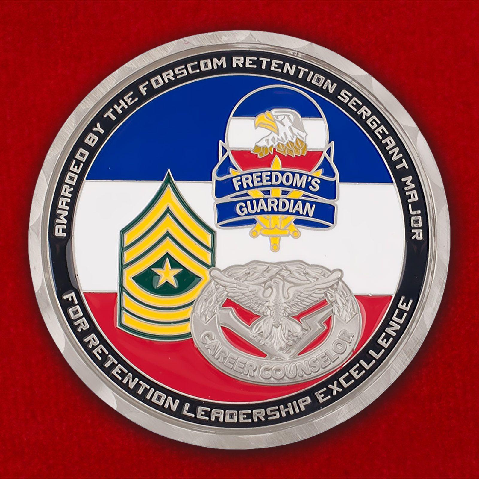 Челлендж коин Главного Командования Сухопутных войск США
