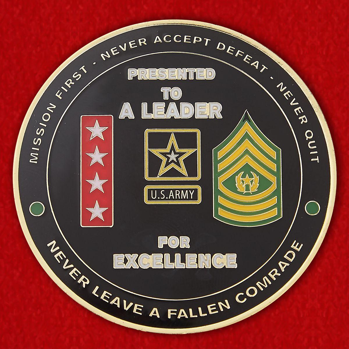 Челлендж коин Главного Управления боевой подготовки Сухопутных войск армии США
