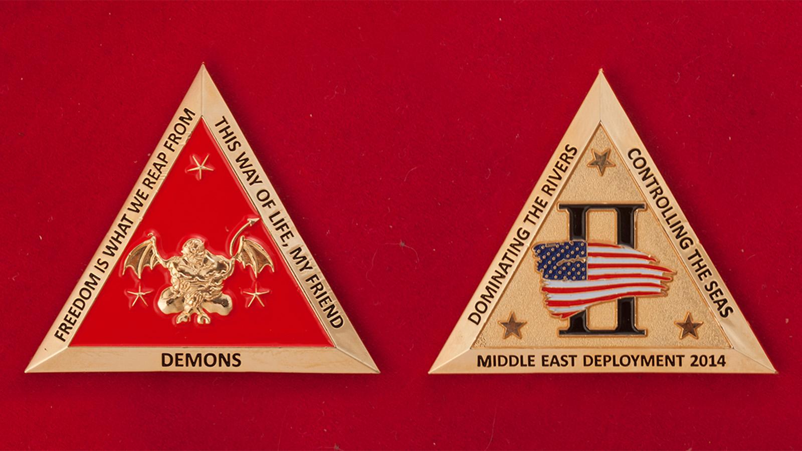 Челлендж коин группировки ВМС США на Ближнем Востоке