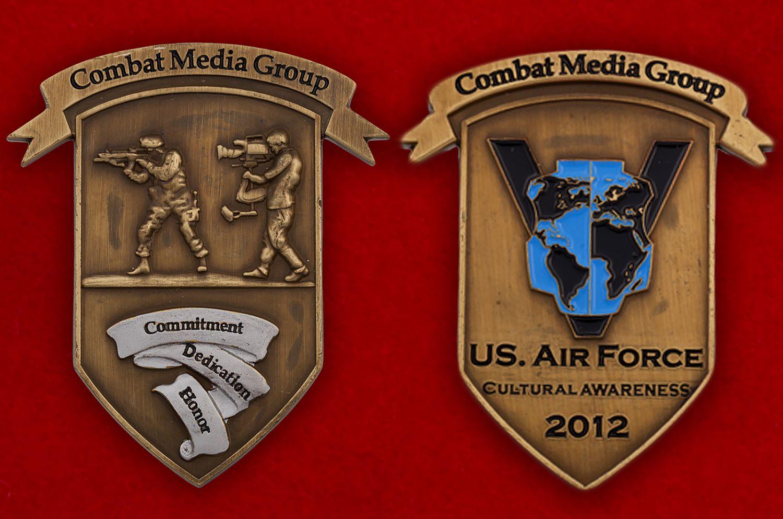 Челлендж коин группы по уважению к культуре и традициям других народов при пресс-службе ВВС США - аверс и реверс