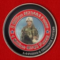 Челлендж коин группы специалистов по обезвреживанию минометных взрывателей Корпуса морской пехоты США