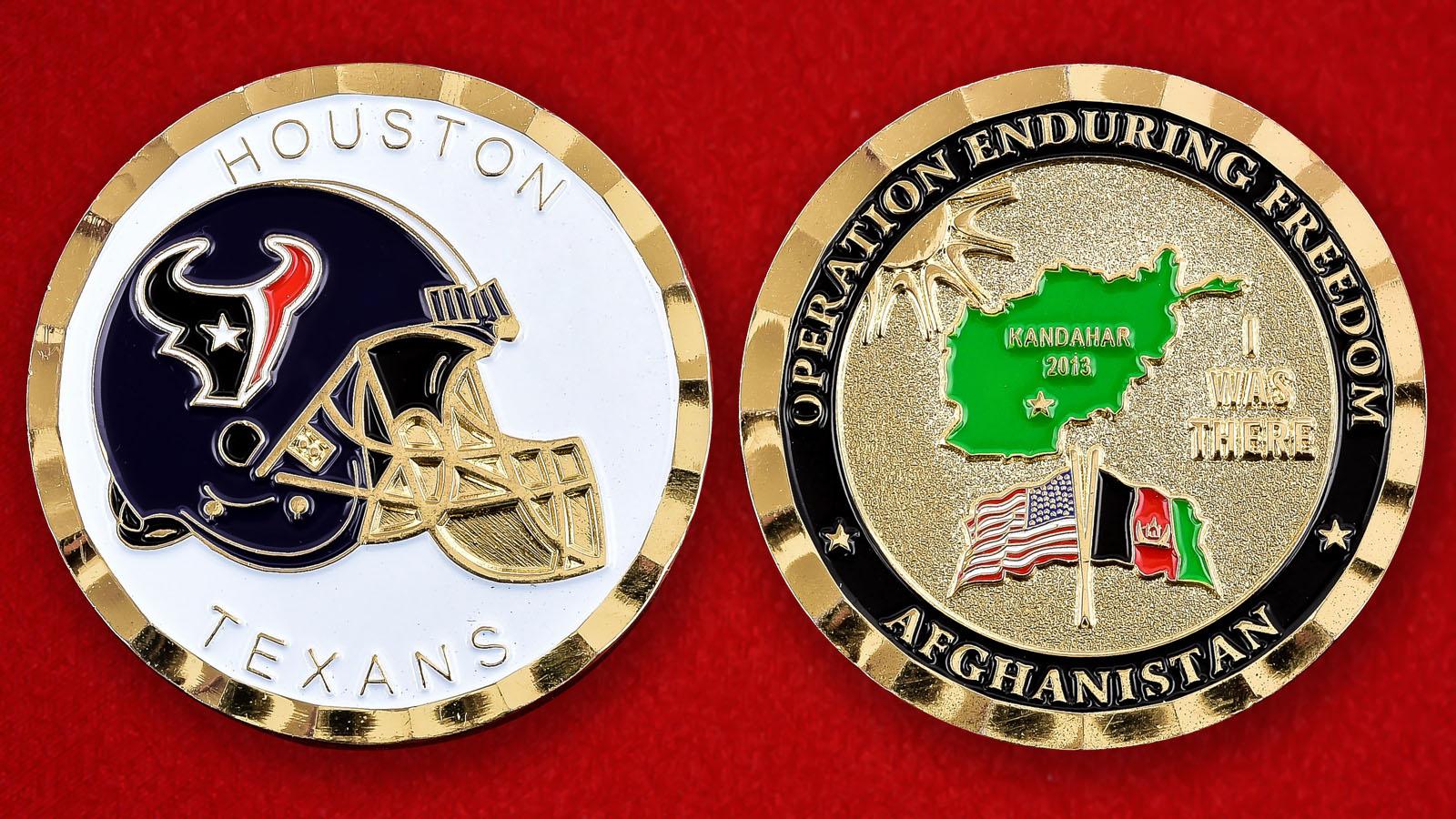 """Челлендж коин """"Houston Texans в поддержку Операции Несокрушимая Свобода"""""""