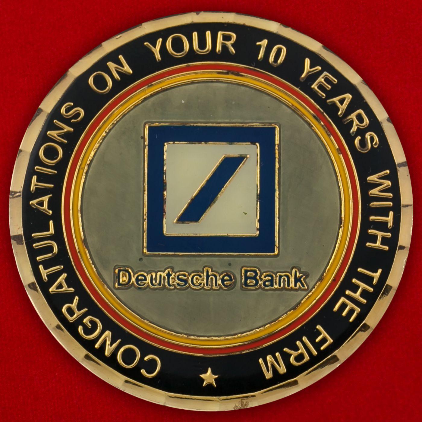 Челлендж коин к 10-летию Отделения Дойче Банка во Флориде
