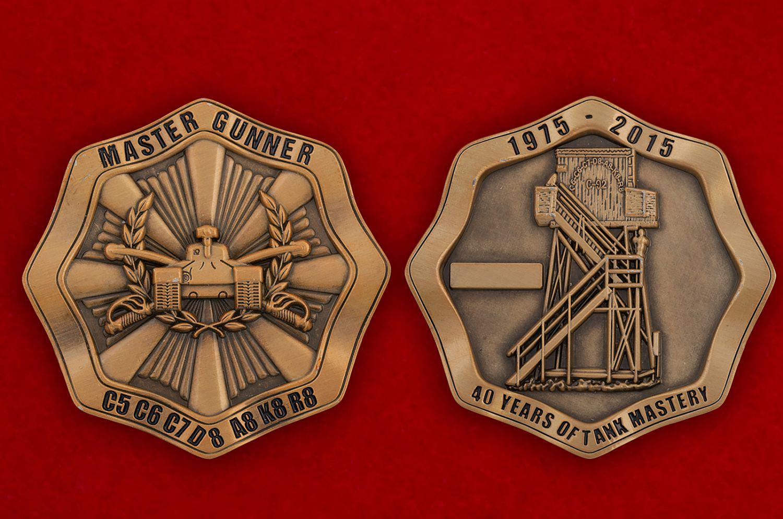 Челлендж коин к 40-летию соревнований бронетанковых подразделений Армии США - аверс и реверс