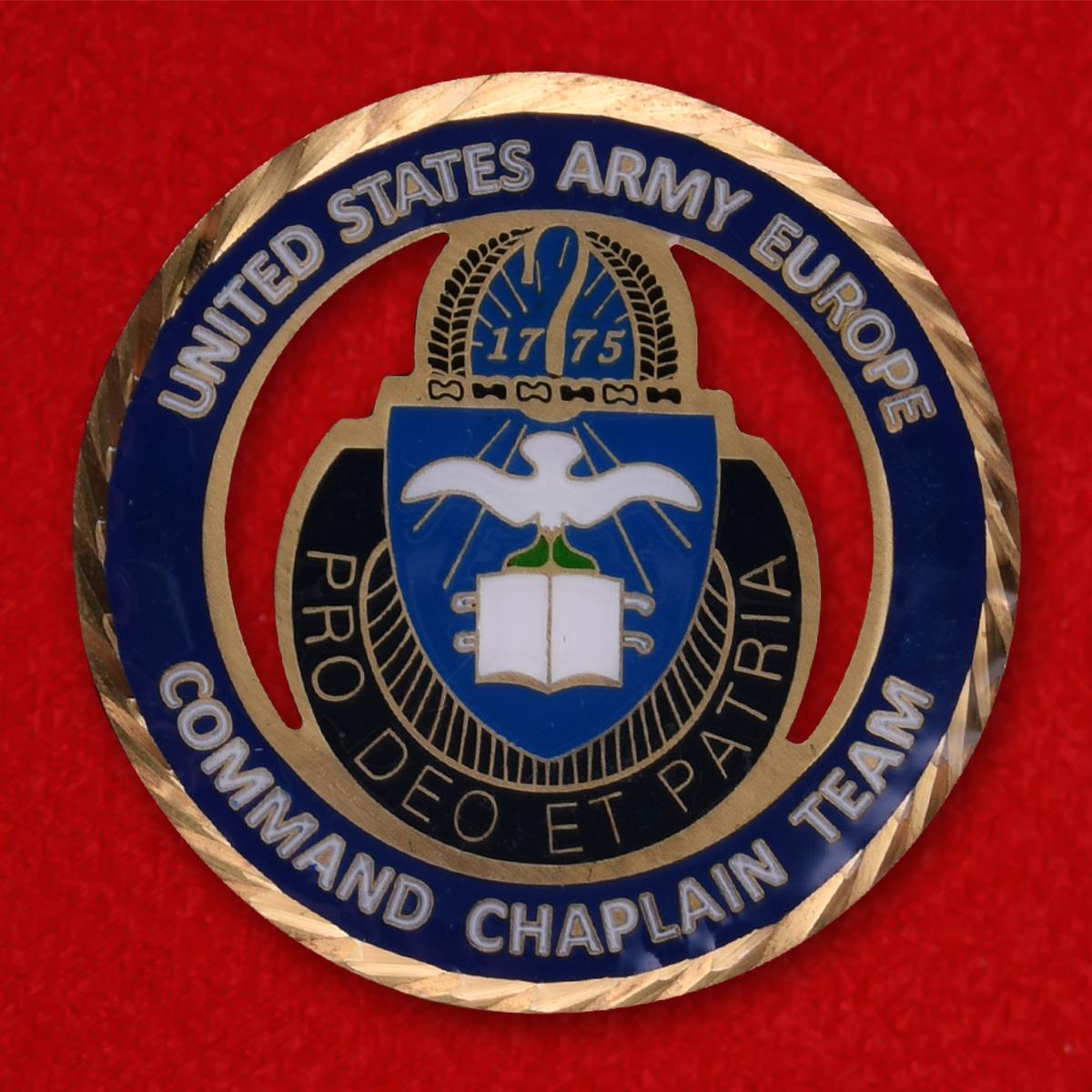 Челлендж коин капелланов Армии США в Европе