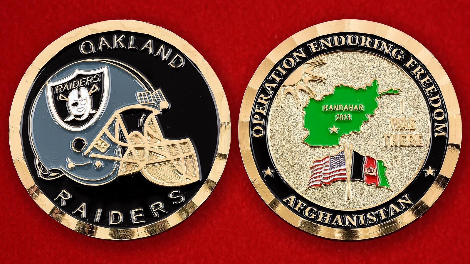 Челлендж коин клуба NFL Oakland Raiders
