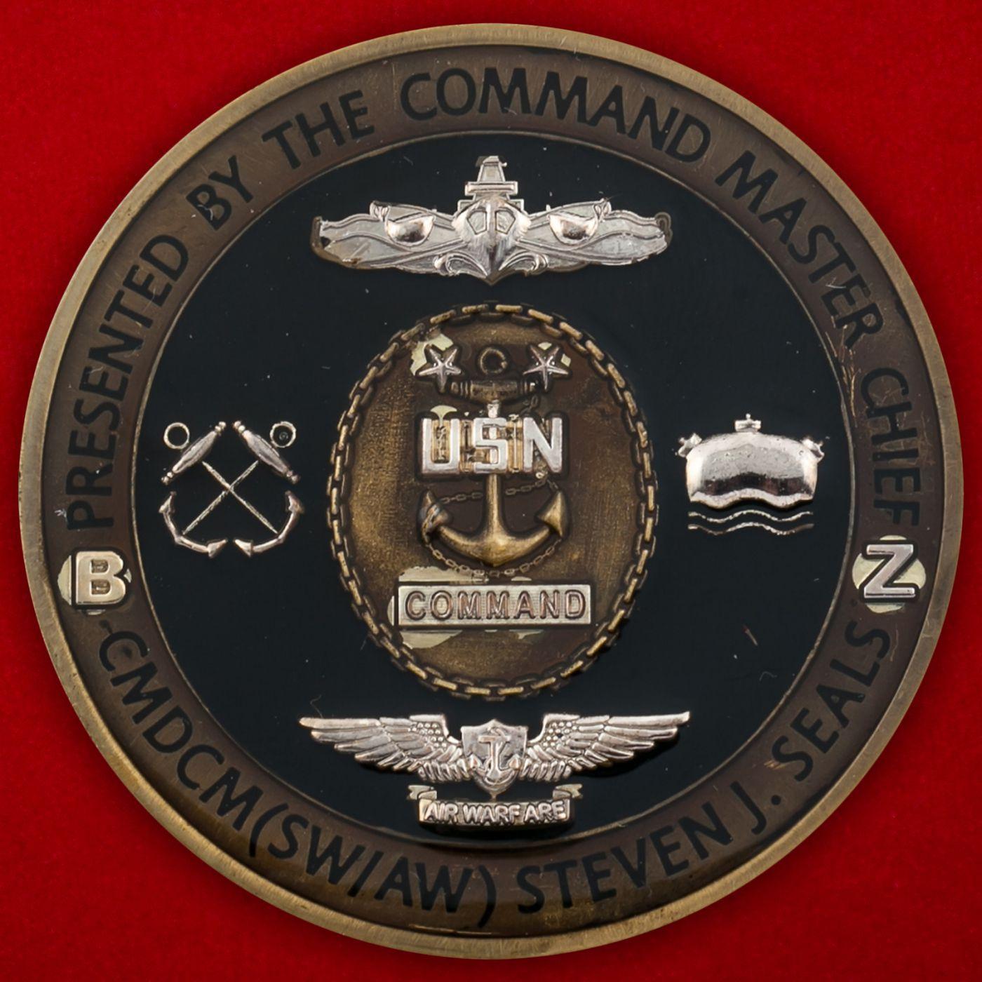 Челлендж коин Команд-мастер-сержанта Береговой охраны США Стивена Сайлса